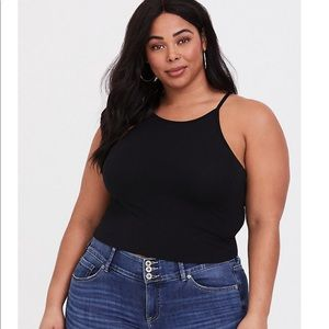 Torrid size 0 high neck crop foxy cami
